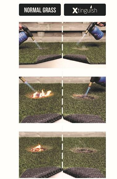 Xtinguish brandproef 2  - Kunstgras met brandveilig certificaat